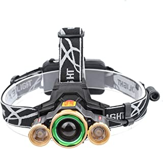 JTYX 3 LED Headlights Multifunction Rechargeable Rotary Zoom Portable Head Mounted Flashlight