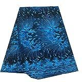 Lace Stoff Blaue afrikanische Schweizer Voile-Spitze-Gewebe