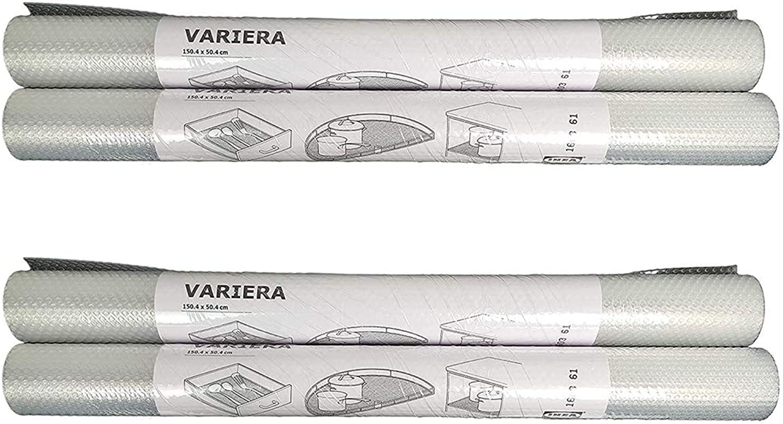 IKEA Variera Shelf Liner Drawer Mat, Clear - 4 Pack