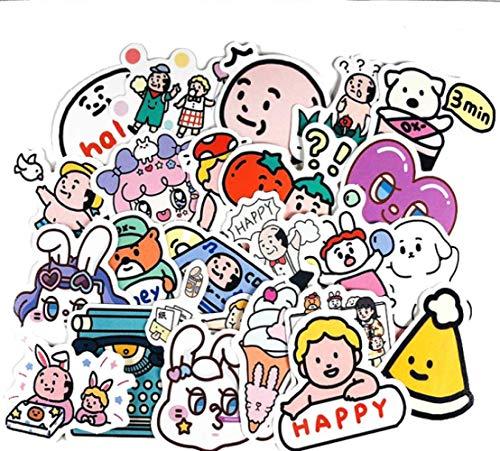 JUNZE Pegatinas de Graffiti de Burbujas de oxígeno de Dibujos Animados Bonitos,...