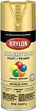 Krylon K05588007 COLORmaxx Spray Paint, Aerosol, Gold