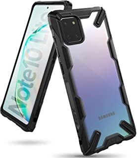 جراب شفاف من رينجكي مقاوم للصدمات لهاتف سامسونج نوت 10 لايت (Samsung Note 10 Lite)- اسود وشفاف