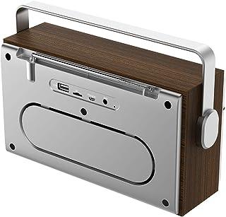 Meterk Portable Wireless Bluetooth 5.0 Speaker 20W Loudspeaker Alarm Clock FM Radio MP3 Player Support TF Card U Disk Line...