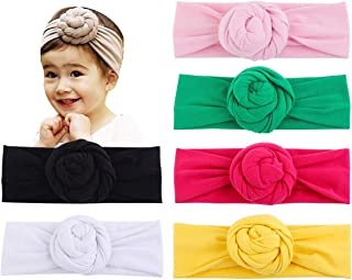 Baby Cotton Gilrs Elastic Knot Headbands Nursery Beanie Kids Cap