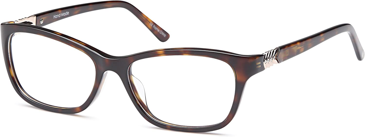 DALIX Female Prescription Eyeglasses Frames 531613535 RXable in Black, Tortoi