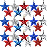 Independence Day Patriotic Hanging Star Ornaments 4th of July Star Hanging Ornaments Red Blue White Star Hanging Decoration for Independence Day Party Supplies Home Decoration (27)
