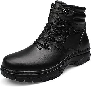 CEMAI Bottes d'hiver Chaudes Des Hommes En Cuir Noir Cheville Chaussure Keller Taille 45-53 EU