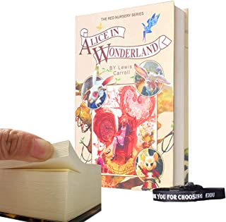 Real Paper Diversion Book Safe with Key Anti-Theft Safe Secret Box/Money Hiding Box/Collection Box-Alice in Wonderland