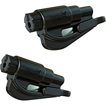 resqme The Original Keychain Car Escape Tool, Made in USA (Black) - Pack of 2