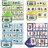 HONTOUSIP Sinónimos/Antónimos/Pronombres/Homófonos Tarjetas Flash para Niños|Tarjetas de bolsillo de aprendizaje|Para Kindergarten/Maestro/Autismo Terapeutas Herramientas