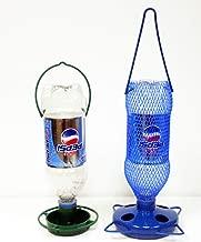 Gadjit Soda Bottle Bird Feeding Starter Kit Includes 1 Soda Bottle Hanging Feeder and 1 Watering Well. Just Add 2 Empty Soda Bottles, Birdseed, Water, Promote Plastic Bottle Re-use