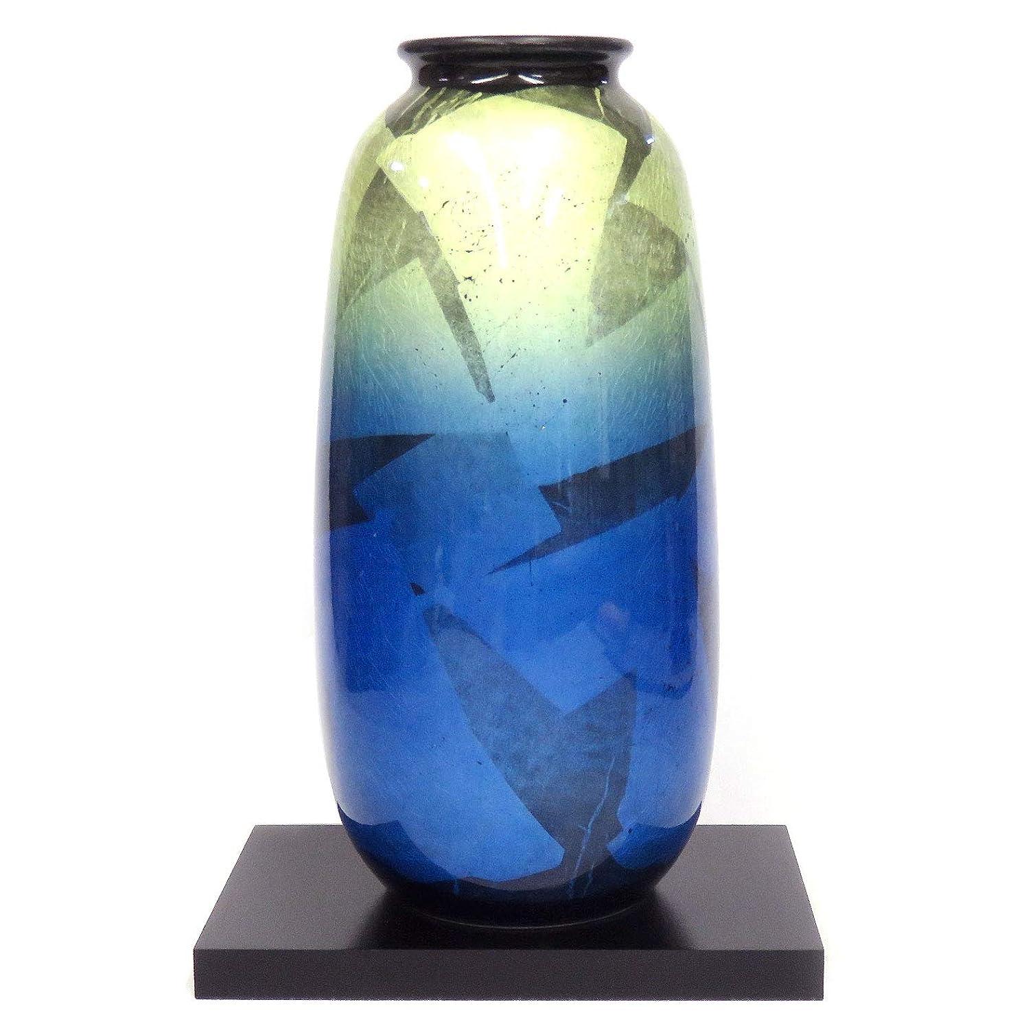 代表団ベアリングサークルパッケージ九谷焼 陶器 花瓶 銀彩夜明け AK5-1263