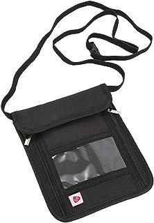 Bloqueo RFID Bolsa de Viaje para el Cuello estanqueidad en el Cuello antirrobo Pasaporte para Viajes port/átil ENET