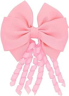 Cyose Women Girls Roll Ribbon Hair Bows With Clip For Women Girls Kids 8 Pink