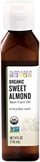 Aura Cacia Organic Sweet Almond Oil   GC/MS Tested for Purity   118ml (4 fl. oz.)