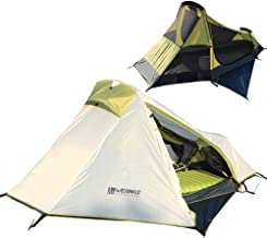 Weanas One Person Tent, Single Bivy Backpacking Tent - Extra Size Lightweight 3 Season Tent with Gear Storage Footprint for Camping, Hiking, Traveling