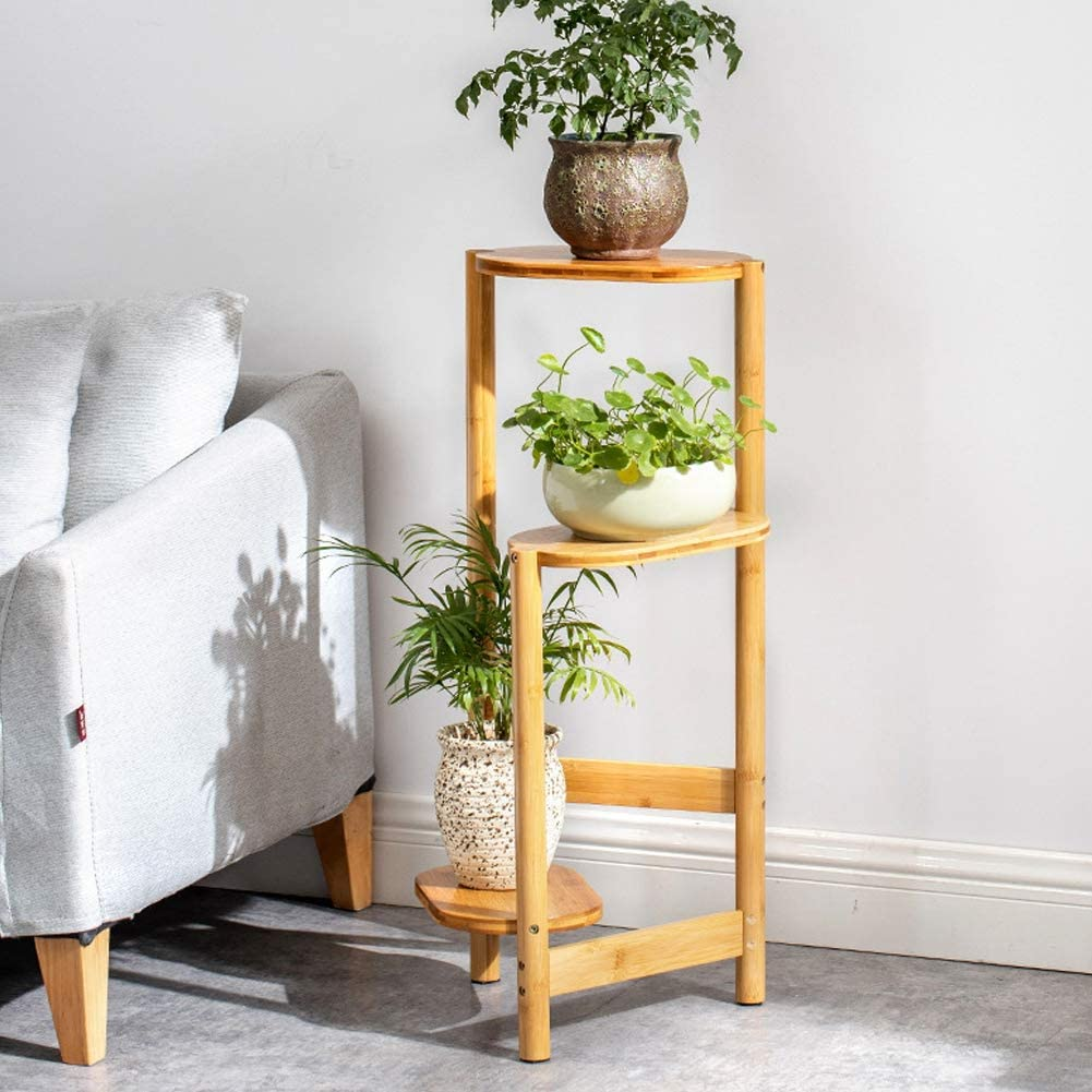 POCREATION Multi-Tier Potted Plant Sturdy Stand Phyllost trust Popular Nature