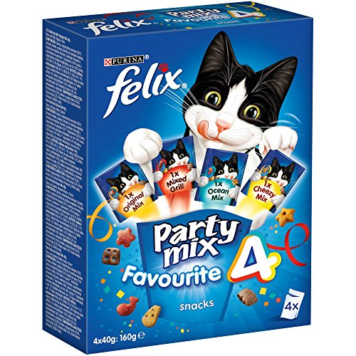 Purina Felix Party Mix Surtido Snacks, golosinas y chuches para gato 6 x [4 x 40 g]
