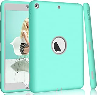 Hocase iPad 5th/6th Generation Case, iPad 9.7 2018/2017 Case, High-Impact Shock Absorbent Dual Layer Silicone+Hard PC Bumper Protective Case for iPad A1893/A1954/A1822/A1823 - Teal/Grey