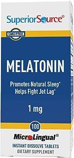 Superior Source Melatonin 1mg with Chamomile Instant Dissolve Tablets - Non Addictive Sleep Aid - Sublingual Melatonin - N...