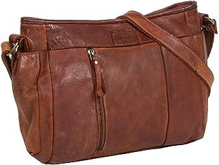 MUSTANG Palermo Leather Crossbody Bag Cognac