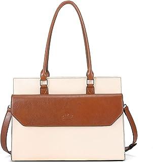 CLUCI Vintage Aktentasche Damen Leder 15,6 Zoll Laptoptasche Business Tasche Ölwachs Leder Fraun Schultertasche