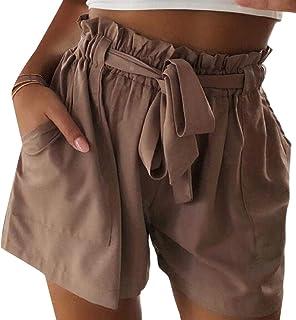Xswsy XG Women's Pant Baggy Elastic Waist Casual Short High Waist Short