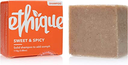 Ethique Eco-Friendly Solid Shampoo Bar to Add Volume & Bounce, Sweet & Spicy - Sustainable Natural Shampoo, Plastic Free, ...