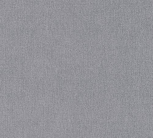 A.S. Création Vliestapete Elegance 5th Avenue Tapete Uni 10,05 m x 0,53 m grau schwarz Made in Germany 361513 36151-3