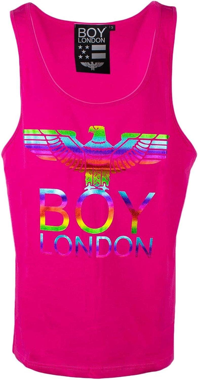 Boy London Women's 172ST028392431 Fuchsia Cotton Tank Top