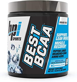 BPI Sports Best BCAA - BCAA Powder - Branched Chain Amino Acids - Muscle Recovery - Muscle Protein Synthesis - Lean Muscle - Improved Performance – Hydration – Arctic Ice - 30 Servings - 10.58 oz.