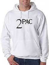 2Pac Hoodie Rapper Classic Hip Hop Rap TuPac Makaveli Thug Life Sweatshirt (5XL, White)