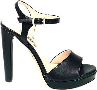 ea3286528 ALBANO 2176 - Sandalo Donna Pelle con Plateau 2 cm e Tacco 12 cm