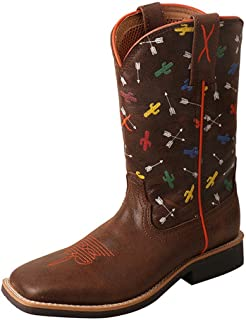 Twisted X Boys' Top Hand Arrow Cactus Cowboy Boot Square Toe