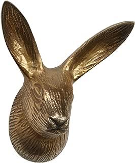 Abbott Collection Antique Brass Rabbit Head Knob