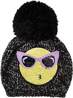 The Children's Place Big Girls' Flip Sequence Emoji Hat