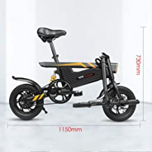 Bicicleta Eléctrica De La Ciudad Plegable De La Bicicleta Aurora, Bicicleta Eléctrica Ebike con Motor Sin Escobillas 250W Y Batería De Litio De 36V 6Ah, Tres Modos