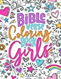 Bible Verse Coloring Book for Girls: 35 Color Pages of Lettering Art of Inspirational & Motivational Scripture with Mindful Patterns for Ages 9-13