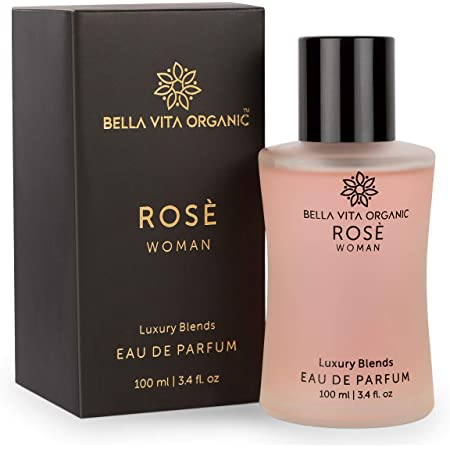 Bella Vita Organic Rose Perfume For Women EDP Long Lasting Scent Luxury Floral Fragrance, 100ml