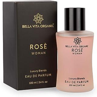 Bella Vita Organic Rose Perfume For Women EDP Long Lasting Scent Luxury Floral Fragrance, 100ml