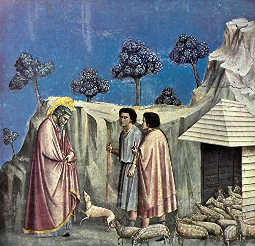 Posterazzi Old Masters 1900 Joachim with Shepherds Poster Print by Giotto, (24 x 36)