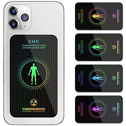 EMF Protection Cell Phone Stickers, Increases The Protection Area, Compatible with iPhone/Samsung/All Smart Phones, iPad/Laptops/Tablets/WiFi/All Electronic Devices - (4 Pack)