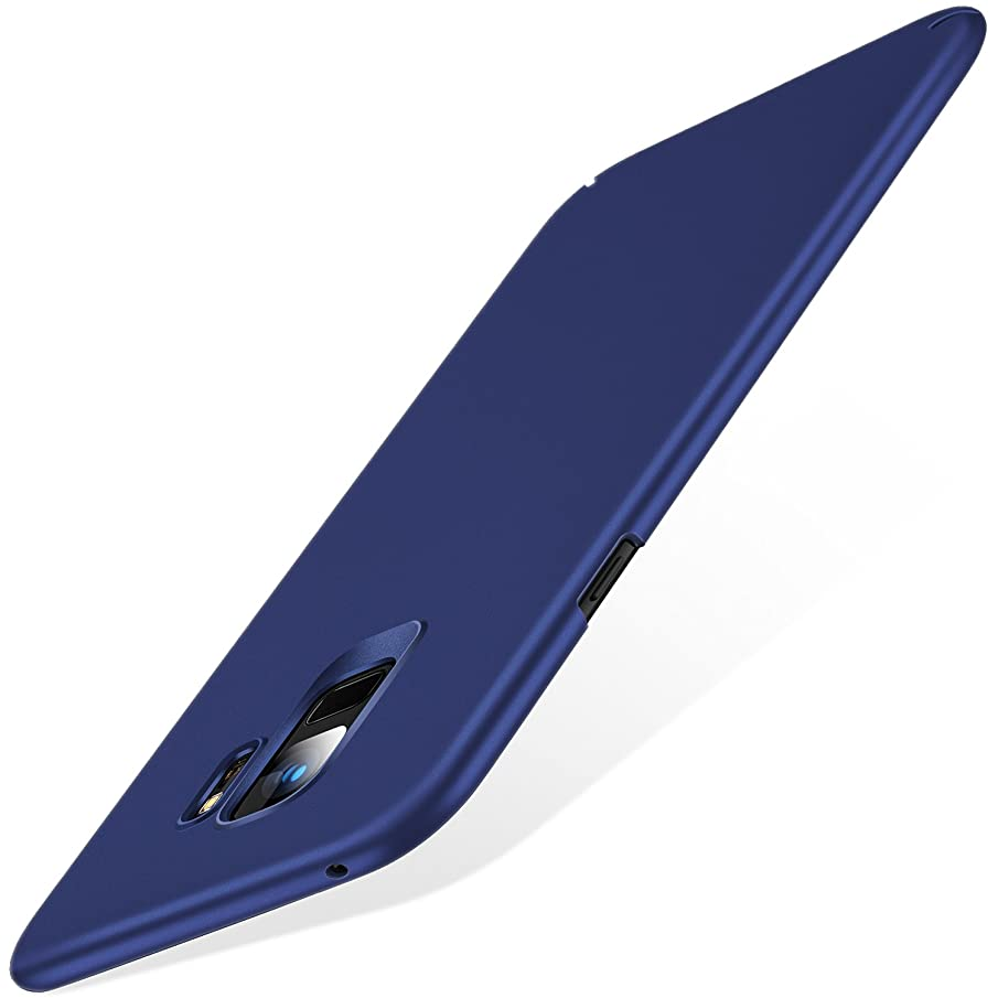 TORRAS Slim Fit Galaxy S9 Case (2018), Hard Plastic Ultra Thin Phone Cover Matte Finish Grip Case for Samsung Galaxy S9, Navy Blue