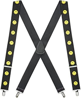 SuspenderStore Men's Happy Face Suspenders