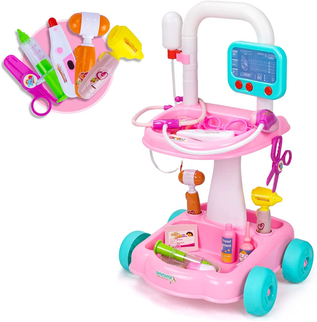 Popularity UNIH Doctor Cart Kit for Kids 3 Realistic Seattle Mall Set Play Medical 4 5