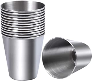 Ruisita 12 Pieces Stainless Steel Shot Cups Stainless Steel Shot Glass Drinking Tumbler 2.3 Ounce/70 ml