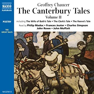 The Canterbury Tales II     Modern English Verse Translation              Written by:                                                                                                                                 Geoffrey Chaucer                               Narrated by:                                                                                                                                 Philip Madoc,                                                                                        Frances Jeater,                                                                                        John Rowe,                   and others                 Length: 3 hrs and 30 mins     Not rated yet     Overall 0.0