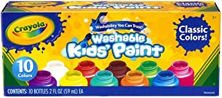 Crayola Safe for Kids Washable Paint Set - 10ct Classic Colors
