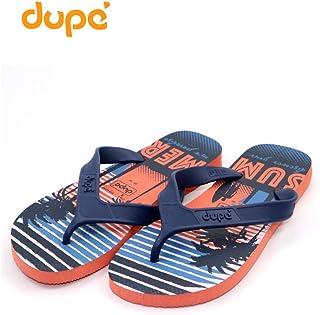 Dupe Orange Flip Flop Thong Design Slipper for Mens