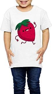 かわいいと面白い漫画ガーデン ストロベリー 子供服 キッズ 半袖 Tシャツ 綿100% 3 Toddler